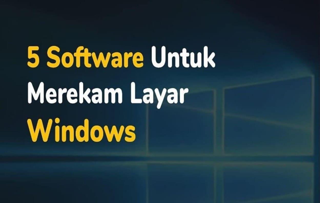 5 Software Perekam layar PC 5 Software Perekam layar PC dengan Fitur Menarik